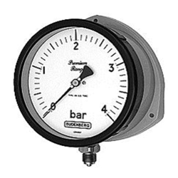 Bourdon Tube Pressure Gauge, DMC Cased, Safety Pattern, Outdoor Use