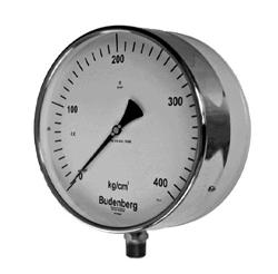 Large Dial Bourdon Tube Pressure Gauge, Safety Pattern Construction