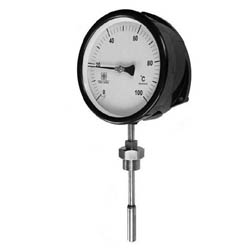 Liquid Expansion Thermometer, Rigid Stem Liquid in Steel, Surface and Flush Mounting