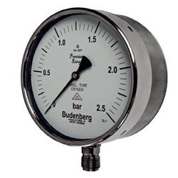 Bourdon Tube Oxygen Pressure Gauge