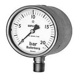Process Gauge, SUPASAFE, Safety Pattern - Monel Wetted Parts