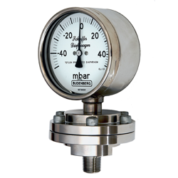 Schaffer Diaphragm Gauge, Stainless Steel Case, Screwed Connection